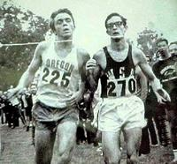 Gerry Lindgren on right, in dead heat with Steve Prefontaine
