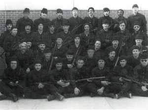 Delta Force warriors - Eric Haney is in the third row from top, fourth from left.