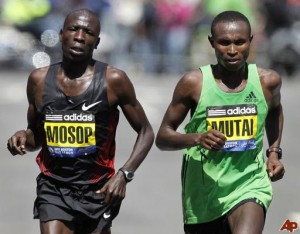 Moses Mosop and Geoffrey Mutai