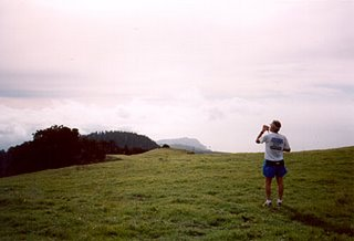 View from Mt. Tam. (Yours truly in his ultra training days.)